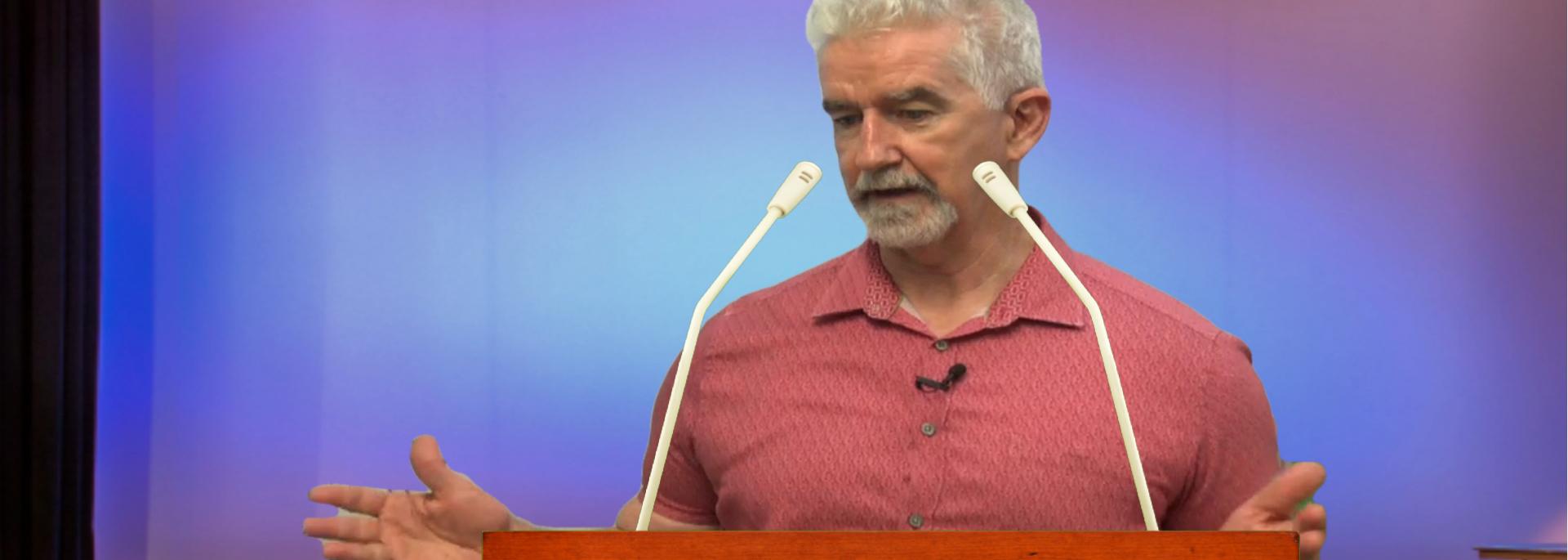 Dr Gibney presenting